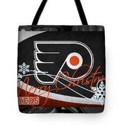 Philadelphia Flyers Christmas Tote Bag