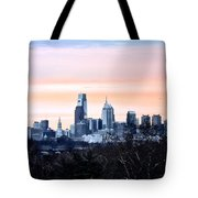 Philadelphia From Belmont Plateau Tote Bag