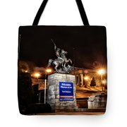 Philadelphia Museum Of Art At Night - East Entrance Tote Bag