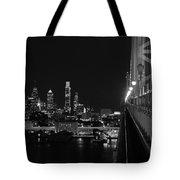 Philadelphia Night B/w Tote Bag