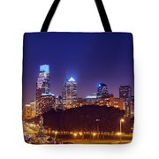 Philadelphia Nightscape Tote Bag