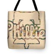 Philadelphia Phillies Logo Art Tote Bag