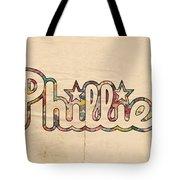 Philadelphia Phillies Poster Art Tote Bag