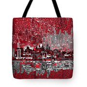 Philadelphia Skyline Abstract 4 Tote Bag by Bekim Art