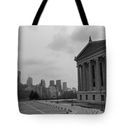 Philadelphia Skyline Black And White Tote Bag