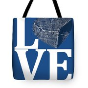 Philadelphia Street Map Love - Philadelphia Pennsylvania Texas R Tote Bag