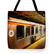 Philadelphia - Waiting Train Tote Bag