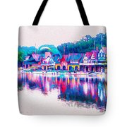 Philadelphia's Boathouse Row On The Schuylkill River Tote Bag