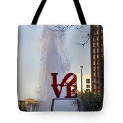 Philadelphia's Love Story Tote Bag