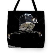 Philae Lander Descending To Comet 67pc-g Tote Bag