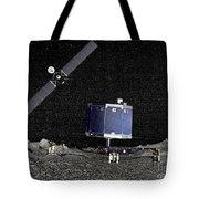 Philae Lander On Surface Of A Comet Tote Bag