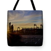 Phillies Citizens Bank Park At Dawn Tote Bag by Bill Cannon