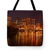 Philly Lights Reflected Tote Bag