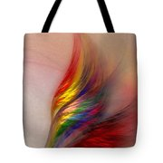 Phoenix-abstract Art Tote Bag by Karin Kuhlmann