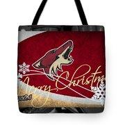 Phoenix Coyotes Christmas Tote Bag