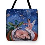 Phoenix Hand Embroidery Tote Bag