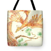 Phoenix In Flight Tote Bag