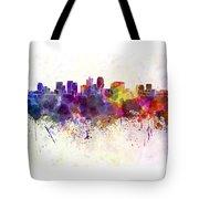 Phoenix Skyline In Watercolor Background Tote Bag