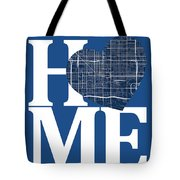 Phoenix Street Map Home Heart - Phoenix Arizona Road Map In A He Tote Bag