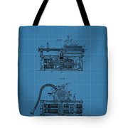 Phonograph Blueprint Patent Drawing Tote Bag
