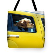 Yellow With Lab Tote Bag