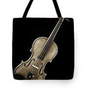 Photograph Of A Complete Viola Violin In Sepia 3368.01 Tote Bag