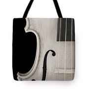 Photograph Of A Viola Violin Side In Sepia 3372.01 Tote Bag