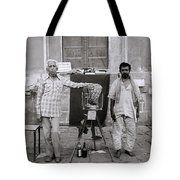 Photographer And Assistant Tote Bag