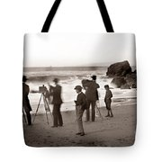 Photographer On The Beach California  Circa 1887 Tote Bag