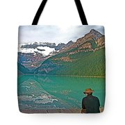 Photographers At Lake Louise In Banff National Park-ab Tote Bag