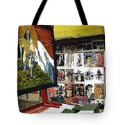 Photographer's Stand Us-mexico Border Town Nogales Sonora Mexico 2003 Tote Bag