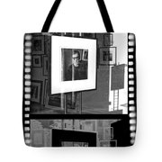 Photographic Artwork Of Woody Allen In A Window Display Tote Bag