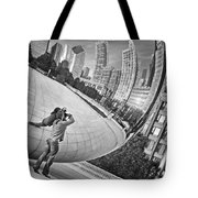 Photographing The Bean - Cloud Gate - Chicago Tote Bag