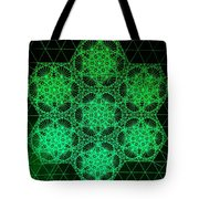 Photon Interference Fractal Tote Bag