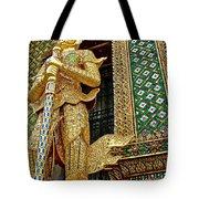 Phra Mondhop At Thai Pagoda At Grand Palace Of Thailand In Bangkok  Tote Bag