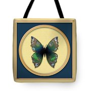 Phthalo Butterfly Tote Bag