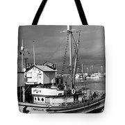 Phyllis Purse-seiner Monterey Wharf California  Circa 1940 Tote Bag