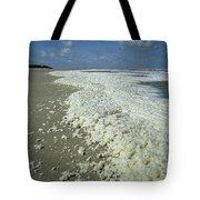 Phytoplankton Bloom On Beach Tote Bag