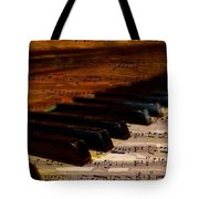 Piano And Music Tote Bag