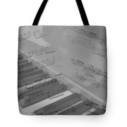 Piano And Notes Tote Bag