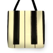 Piano Keys In Sepia Tote Bag