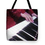 Piano Man At Work Tote Bag