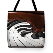 Piano Surrlistic Tote Bag by Garry Gay