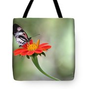 Piano Wings Butterfly Tote Bag