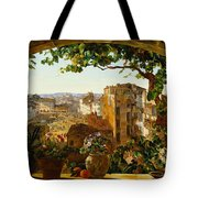 Piazza Barberini In Rome Tote Bag