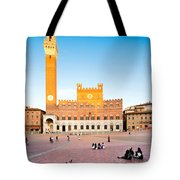 Piazza Del Campo In Siena Tote Bag