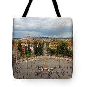 Piazza Del Popolo - Impressions Of Rome Tote Bag