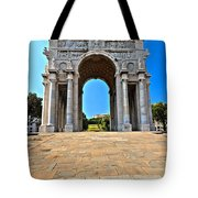 Piazza Della Vittoria - Genova. Italy Tote Bag