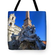 Piazza Navona Fountain Tote Bag