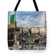 Piazza Venezia Tote Bag by John Wadleigh